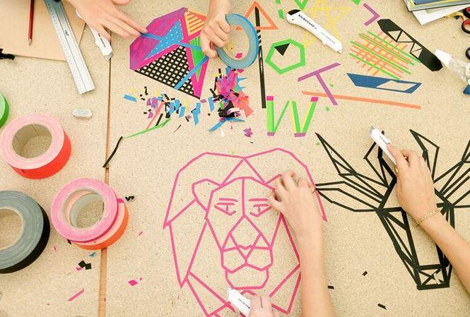 Nghệ thuật sáng tạo từ những cuộn băng dính